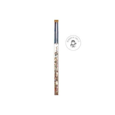 Size 16 Acrylic Brush (Aqua Brush With Glitter)